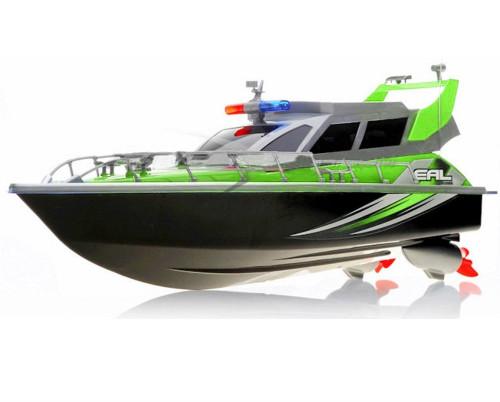 Police Patrol RC Boat Electric Cruiser 4CH Green