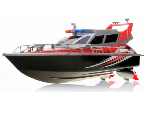 Police Patrol RC Boat Electric Cruiser 4CH Red