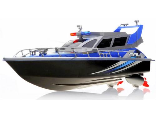 Police Patrol RC Boat Electric Cruiser 4CH Blue