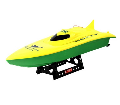 """23"""" Balaenoptera Musculus RC Racing Boat Electric Dual Engine 2CH Yellow"""