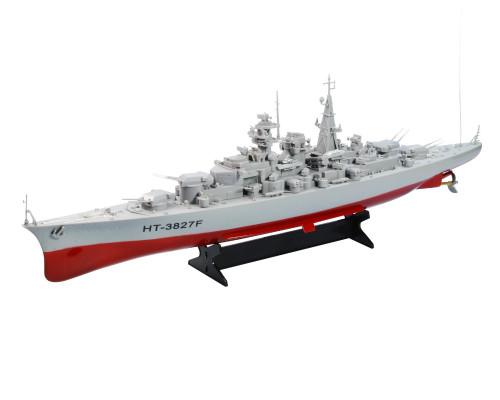 1:360  WW2 German Bismarck Battleship RC Boat 2CH Grey