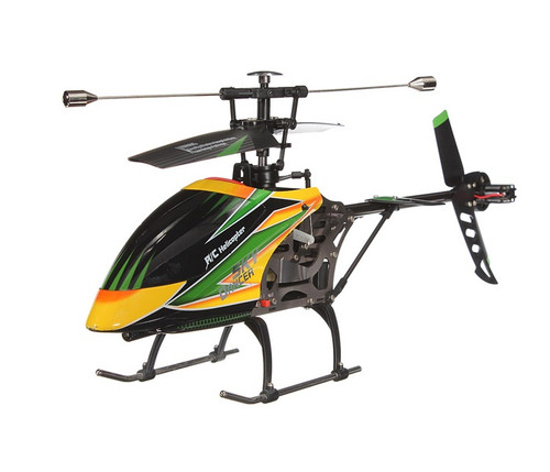 """16"""" V912 Large Metal Gyro RC Helicopter 4CH Electric 2.4GHz Yellow"""