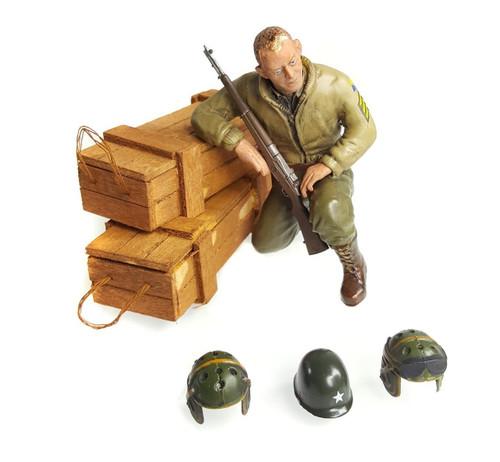 1/16 Scale U.S. Sergeant B. Green Figure WWII RC Tank Crew