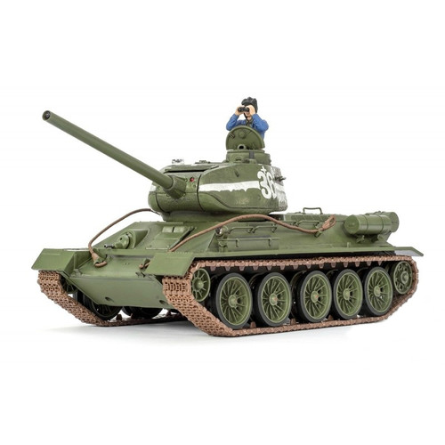 1/24 Russian T-34/85 RC Tank Infrared 2.4GHz Forces of Valor