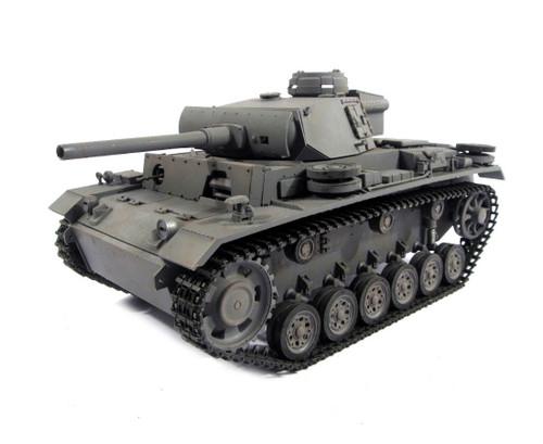 1/16 Mato German Panzer III RC Tank Airsoft 2.4GHz 100% Metal Grey