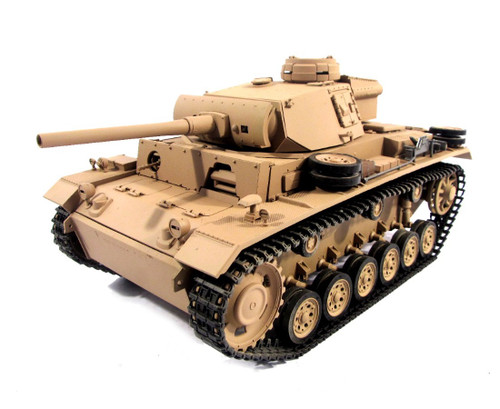 1/16 Mato German Panzer III RC Tank Infrared 2.4GHz 100% Metal Desert