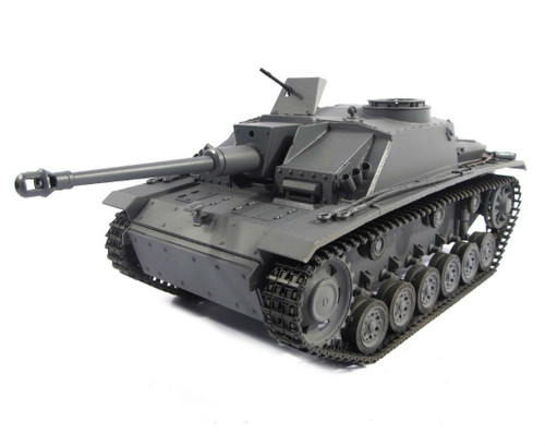 1/16 Mato German Sturmgeschutz III RC Tank Infrared 2.4GHz 100% Metal Grey