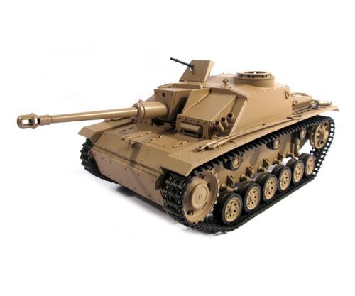 1/16 Mato German Sturmgeschutz III RC Tank Infrared 2.4GHz 100% Metal Desert