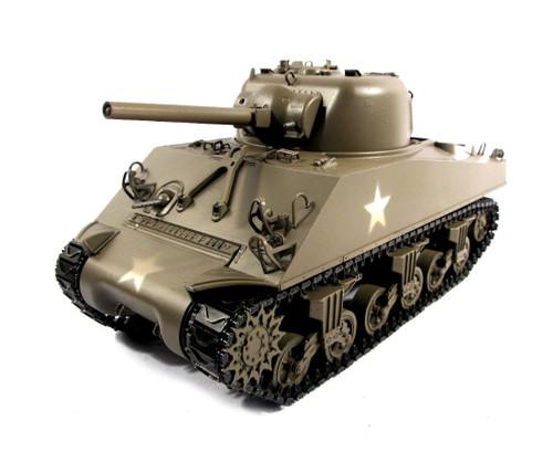 1/16 Mato M4A3 Sherman 75mm RC Tank Airsoft 2.4GHz 100% Metal Green