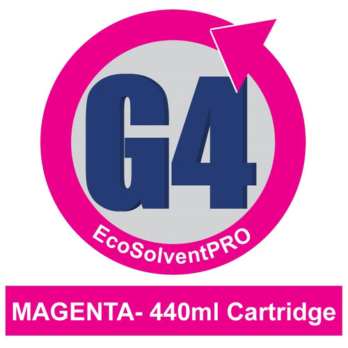 Magenta - EcoSolventPRO G4 Ink for Roland, 440ml Cartridge. Eco-Sol MAX Compatible.
