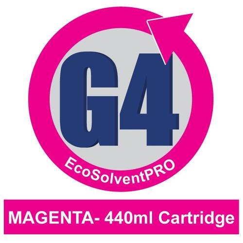 Magenta - EcoSolventPRO G4 Ink for Roland, 440ml Cartridge. Eco-Sol MAX Compatible.