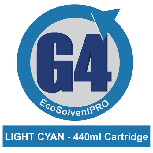 Light Cyan - EcoSolventPRO G4 Ink for Roland, 440ml Cartridge.Eco-Sol MAX Compatible.