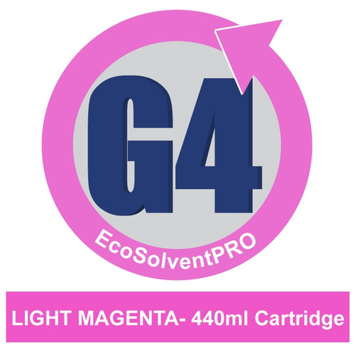 Light Magenta - EcoSolventPRO G4 Ink for Roland, 440ml Cartridge.Eco-Sol MAX Compatible.