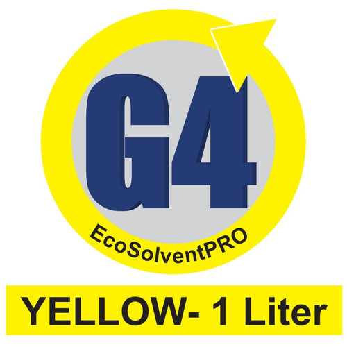 Yellow - 1 Liter Bottle, EcoSolventPRO G4 Ink for Roland. Eco-Sol MAX Compatible.