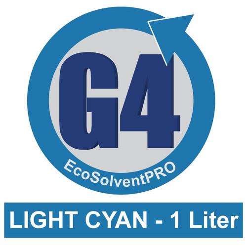 Light Cyan - 1 Liter Bottle, EcoSolventPRO G4 Ink for Roland. Eco-Sol MAX Compatible.