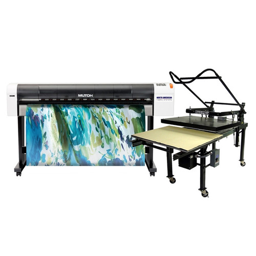 Mutoh RJ900X Dye Sublimation Printer and Flat Press Bundle