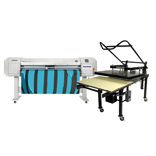 Mutoh VJ1624WX Dye Sublimation Printer and Flat Press Bundle