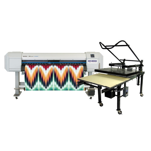 Mutoh VJ1638WX Dye Sublimation Printer and Flat Press Bundle