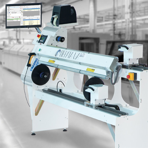 "NEPATA UA1650 RRBA 65"" Rewinder and Cross Cutter for Flex Film, Paper, Canvas and Flock Converting"