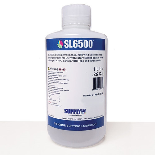 SL6500L Silicone Slitting Lubricant for Roll Slitters (Liter Bottle)