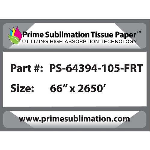 "Prime Sublimation Calender Heavy Weight Tissue Paper 66"" x 2650'"