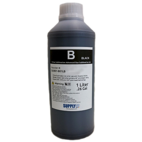 Black - Prime Sublimation V2 Advanced Dye Sublimation Ink - 1 Liter Bottle
