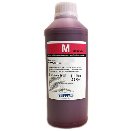 Magenta - Prime Sublimation V2 Advanced Dye Sublimation Ink - 1 Liter Bottle