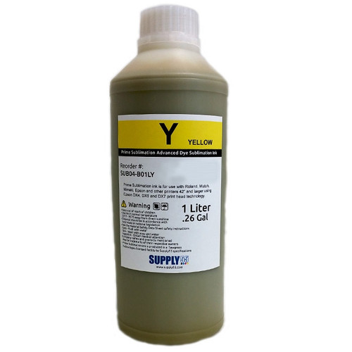 Yellow - Prime Sublimation V2 Advanced Dye Sublimation Ink - 1 Liter Bottle