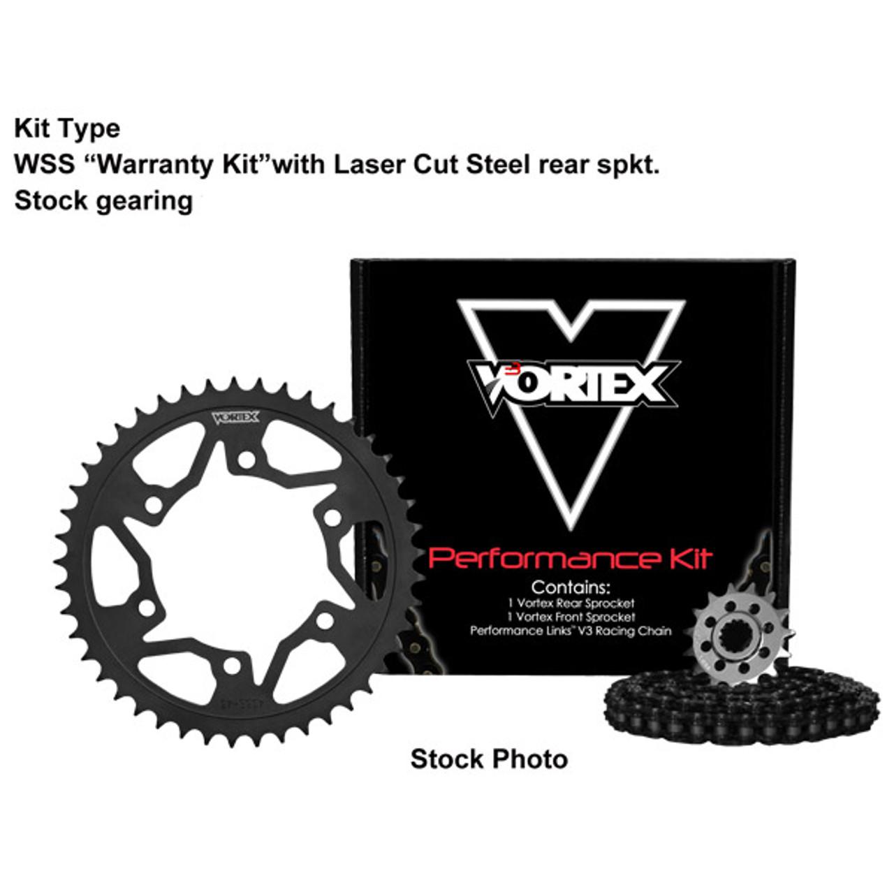 Vortex Front Sprocket Kit 18 Tooth 525 Chain ZX-10R 04-19  2910-18