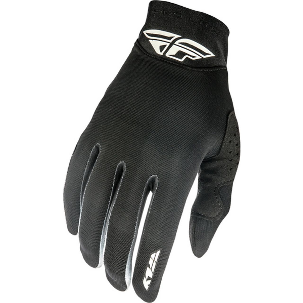 2018 Fly Racing Black Half /'n Half Open Finger Leather Motorcycle Gloves Pick