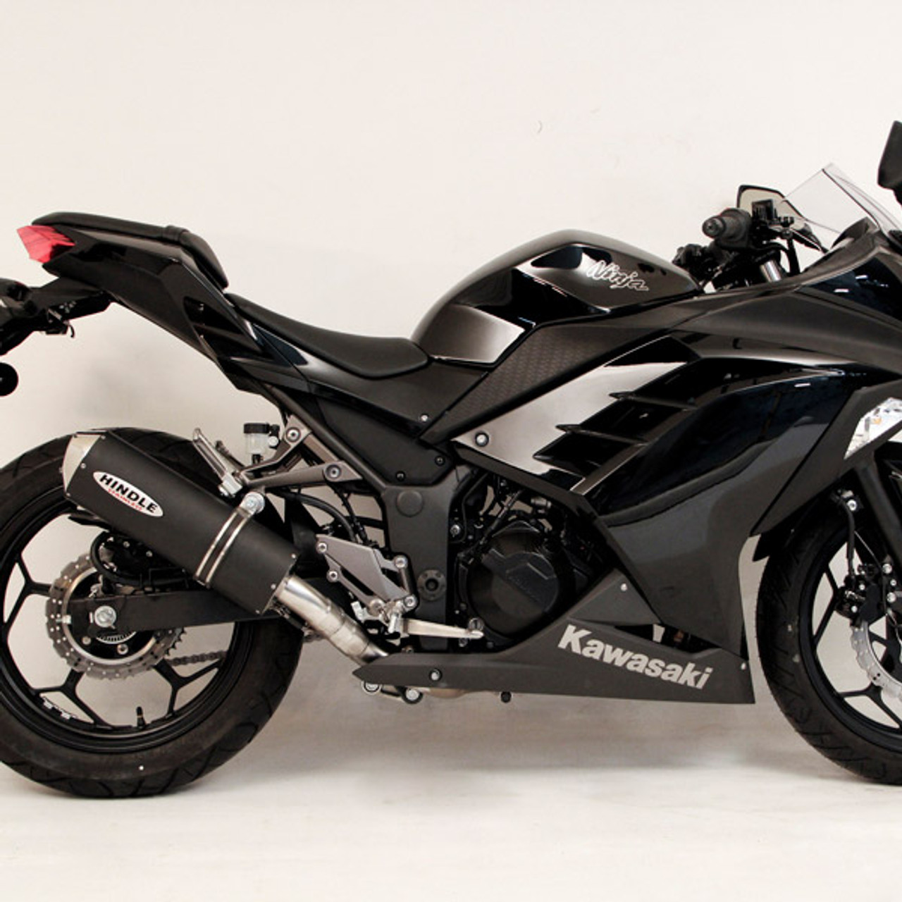 Hindle Evolution Full Exhaust System Kawasaki Ninja 300 13 17