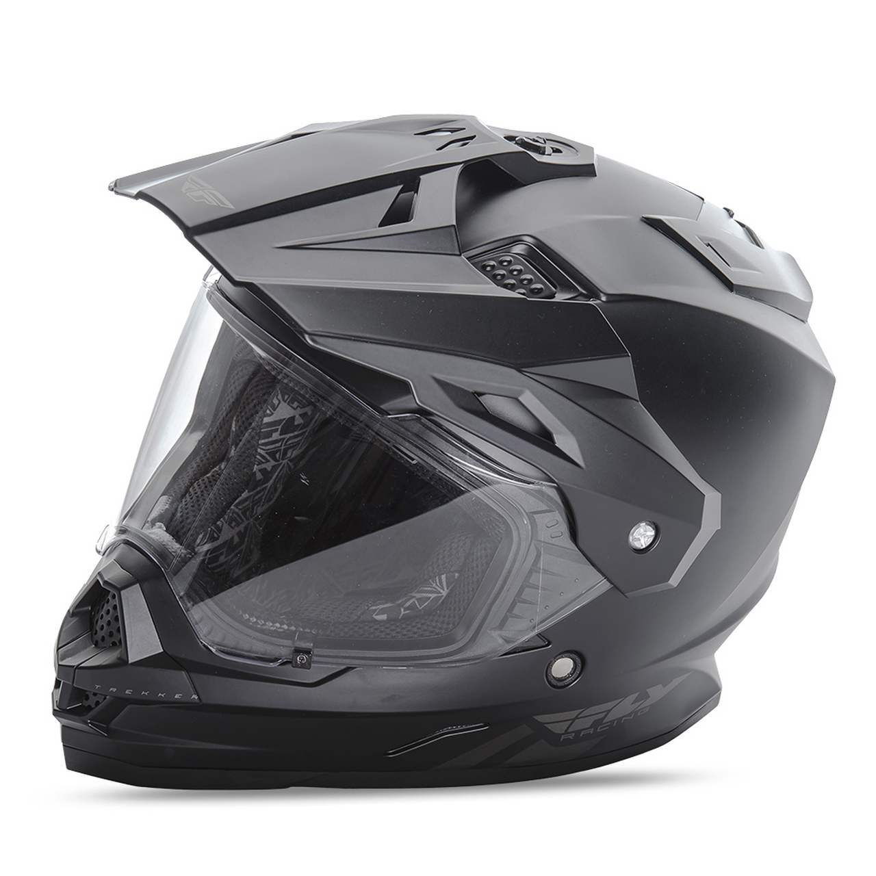 Fly Racing Trekker Dual Sport Motard Matte Black Motorcycle Helmet SIZE LARGE