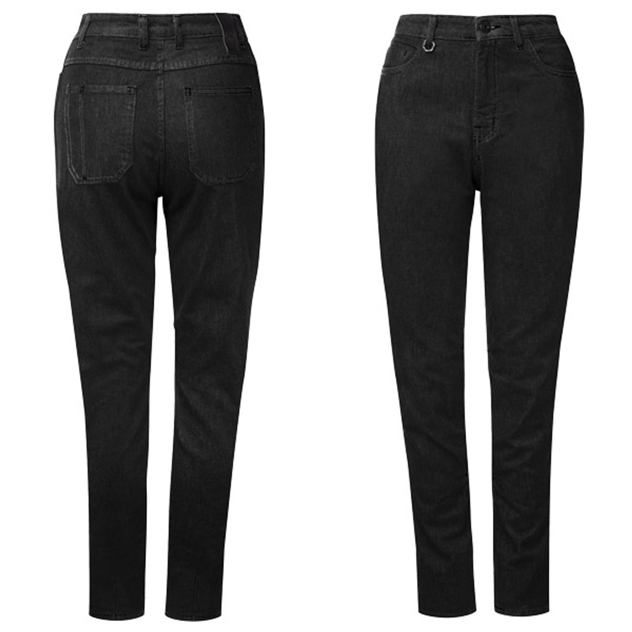 the latest 8b955 5158e KNOX Women's Roseberry Kevlar Riding Jeans Black XX-Large 14 US
