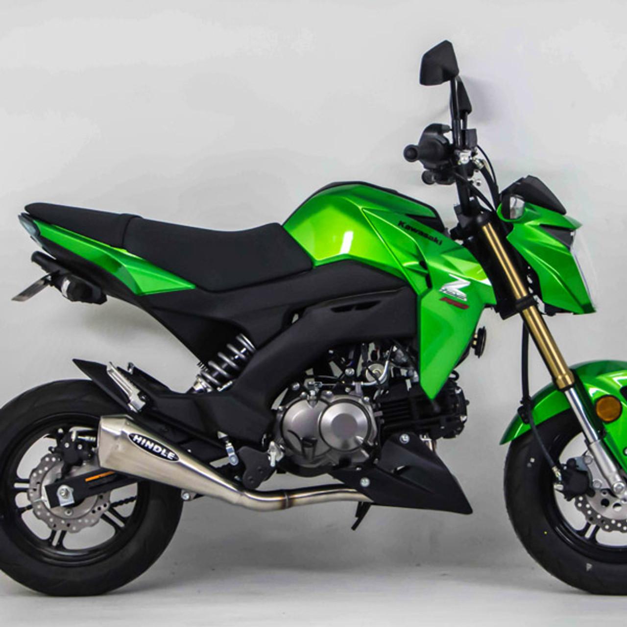 2017 Kawasaki Z125 Pro >> Hindle Evo Megaphone Polished Exhaust Kawasaki Z125 Pro 17 19