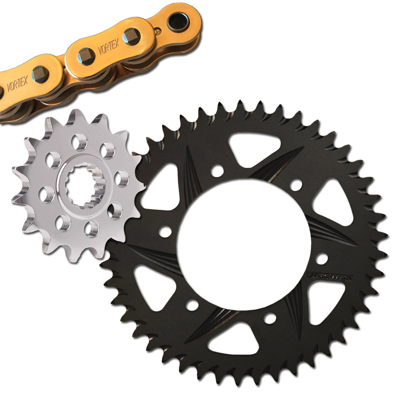 Volar O-Ring Chain and Sprocket Kit Yellow for 2004-2005 Yamaha YZF R1