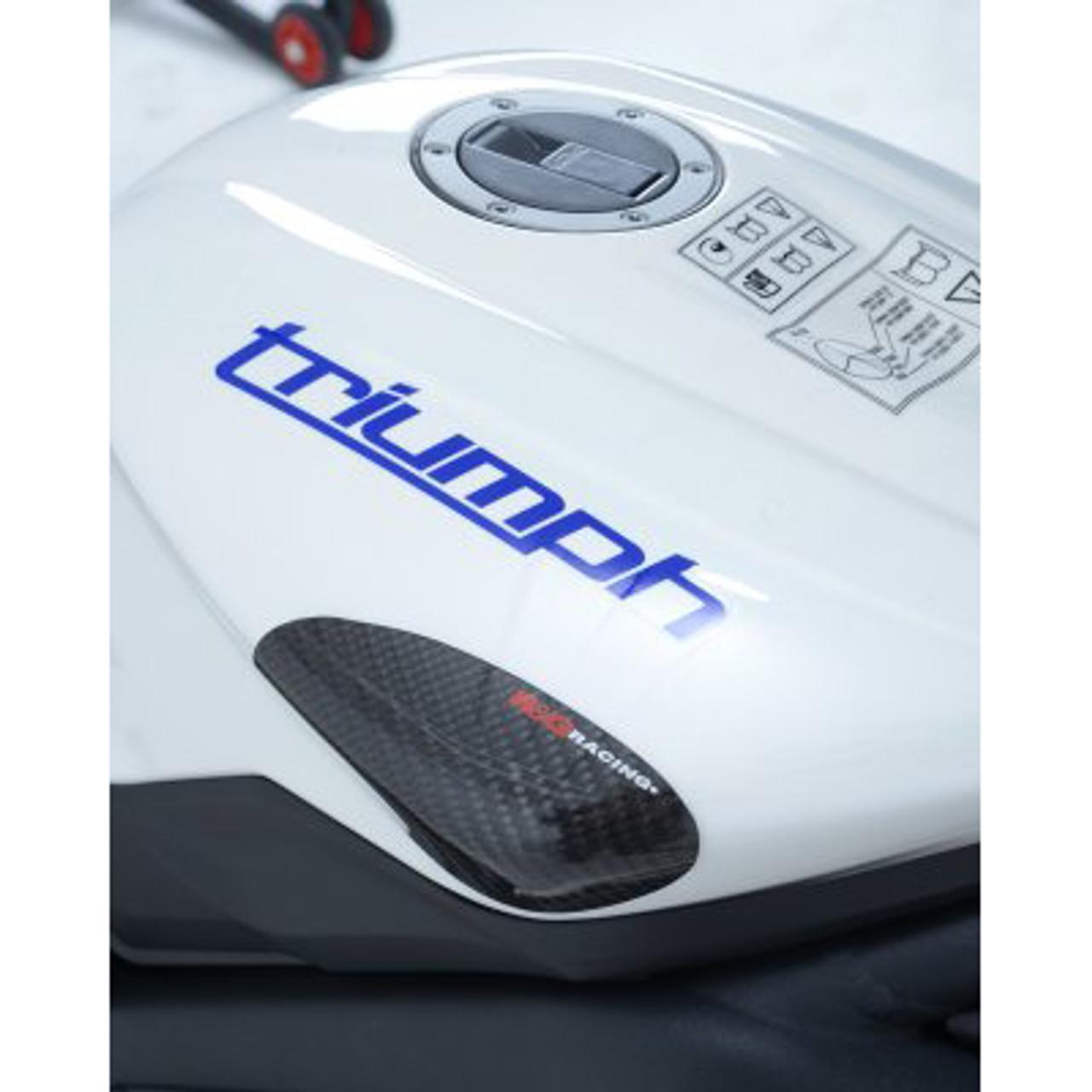 R/&G Carbon Fibre Bike Tank Slider For Triumph 2011 Daytona 675