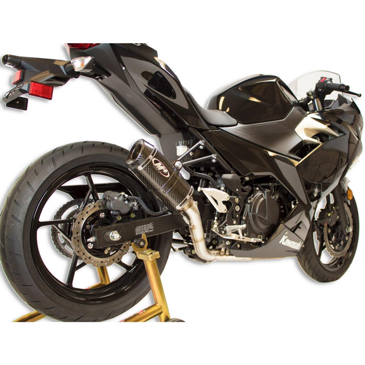 Brand new motorcycle exhaust mid-pipe with exhaust muffler for kawasaki Ninja400 2018