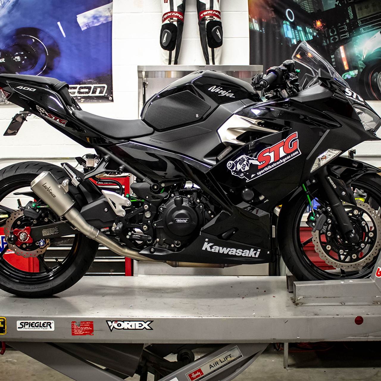 Leo Vince Kawasaki Ninja 400 2018 2020 Lv 10 Slip On Exhaust