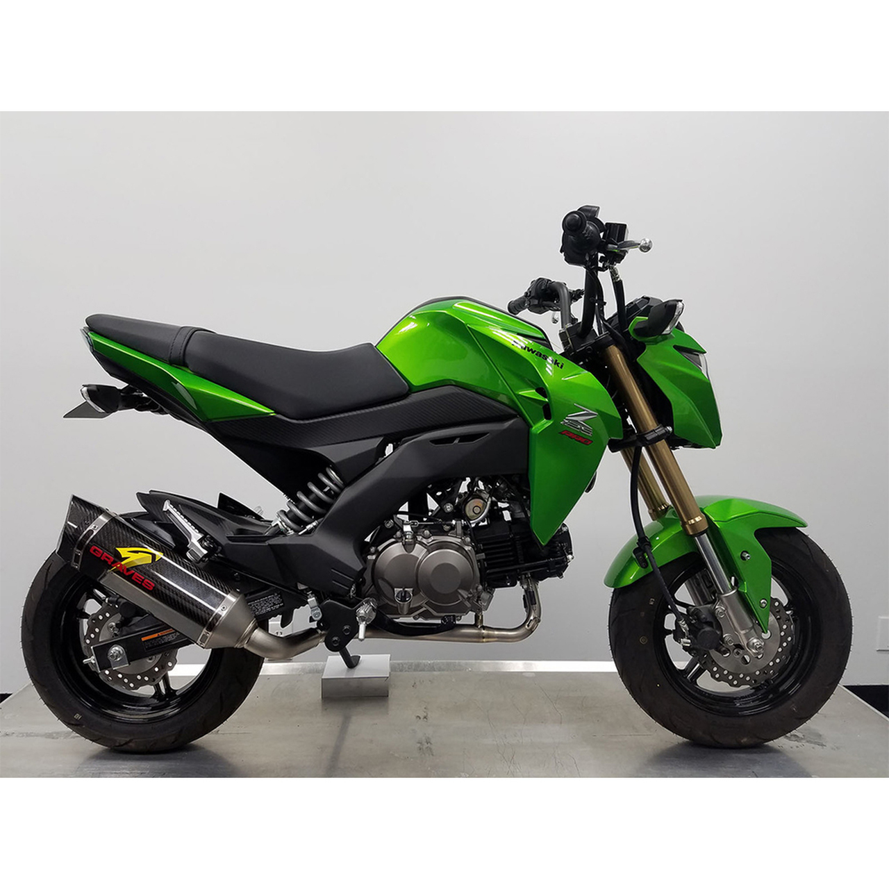 2017 Kawasaki Z125 Pro >> Graves Motorsports Kawasaki Z125 Pro 17 19 Full Exhaust System