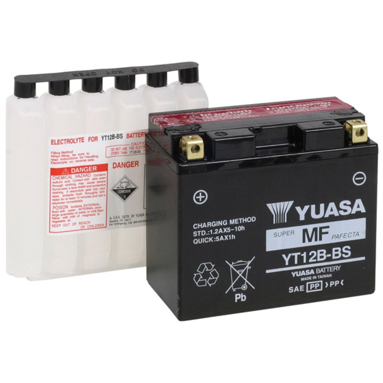 Yuasa YT12B-BS Kawasaki ZX1000-C Ninja ZX-10R 04-/'10 AGM 12 Volt Battery