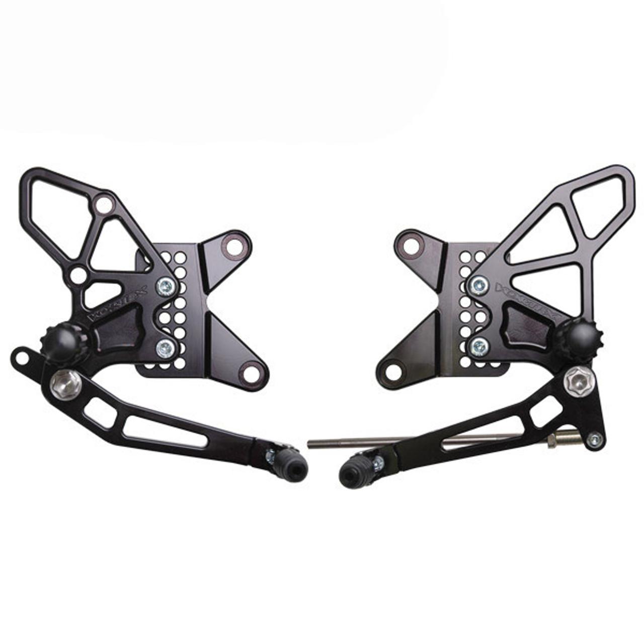 Vortex Kawasaki ZX6R 2013-2019 Adjustable Rearsets V2