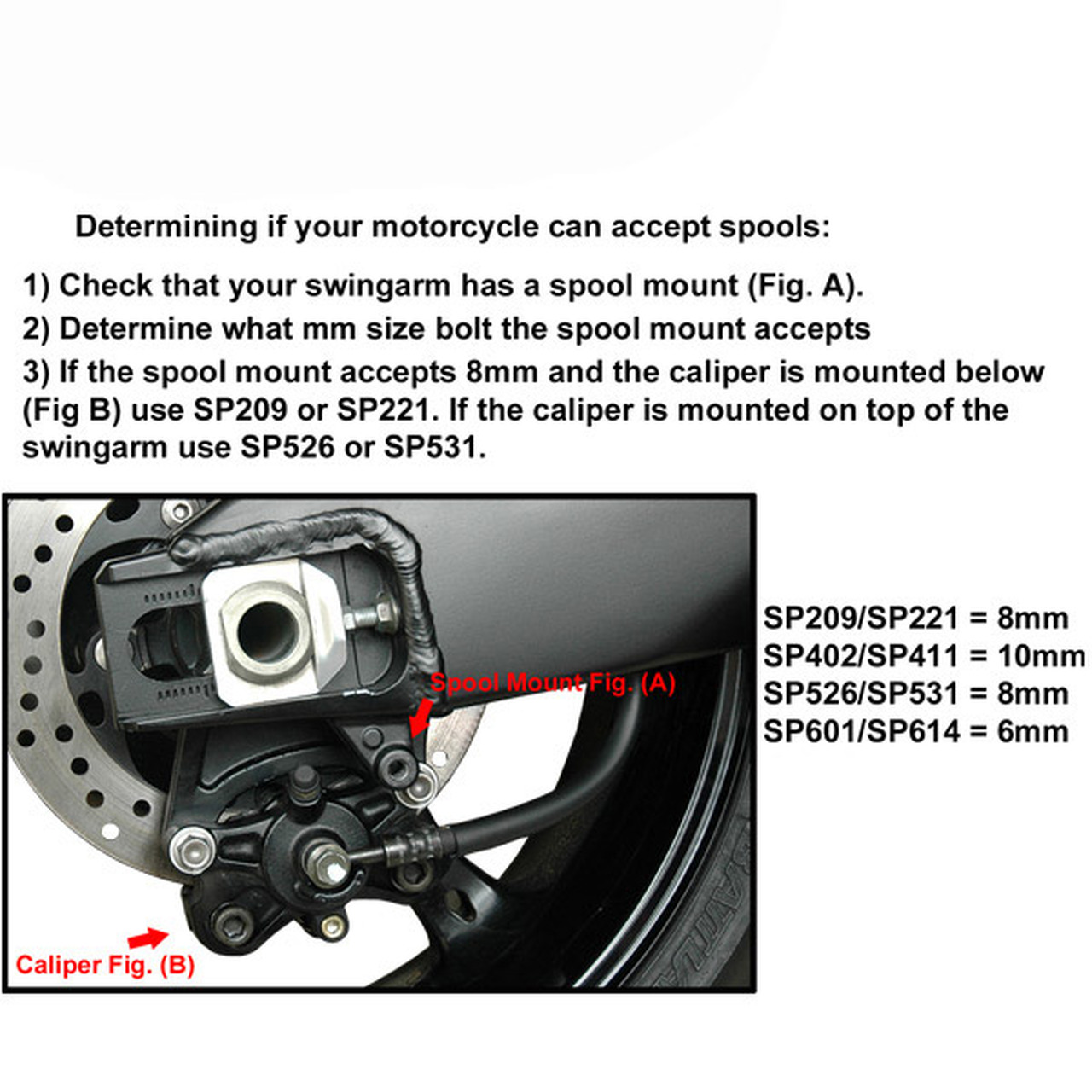 Vortex SP601R  Red 6mm Swingarm Spool
