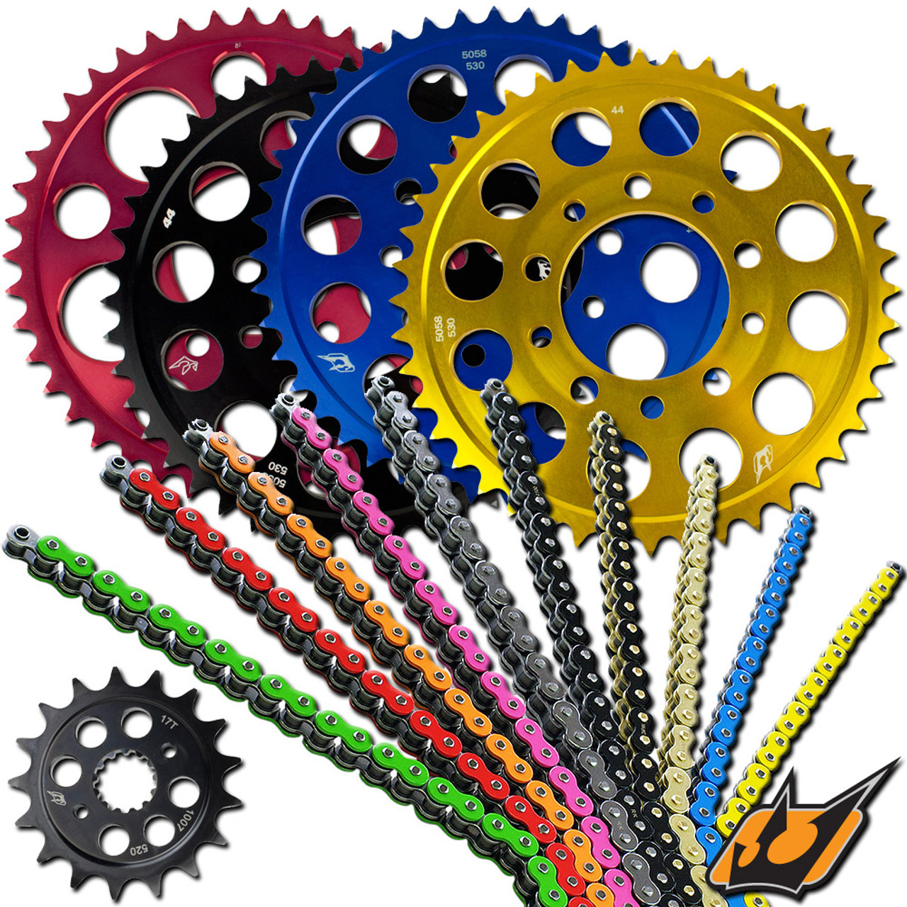 Driven 520 Chain And Sprocket Kit Honda Cbr600rr 03 19