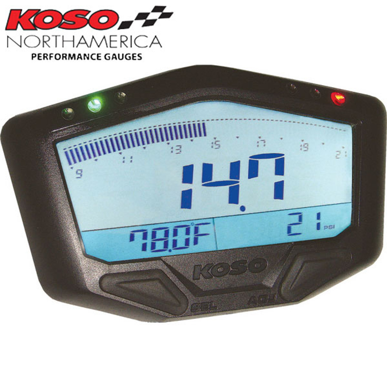 Koso X-2 Boost Gauge with Wide Band Air/Fuel Ratio and Temperature