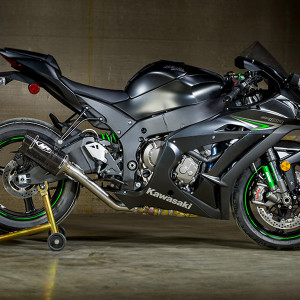 M4 Kawasaki ZX10R 2016-2019 Tech 1 Carbon Slip On Exhaust w