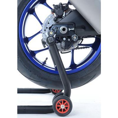 BLUE SWINGARM PADDOCK STAND BOBBINS SPOOLS REELS BMW HP4 2012-2014