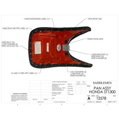 Surprising Saddlemen Honda St1300 03 13 Stealth Seat Sportbike Track Gear Ncnpc Chair Design For Home Ncnpcorg