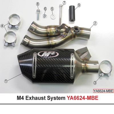 Carbon M4 Street Slayer Slip-On Exhaust CARBON FIBER 06-16 YAMAHA YZF-R6