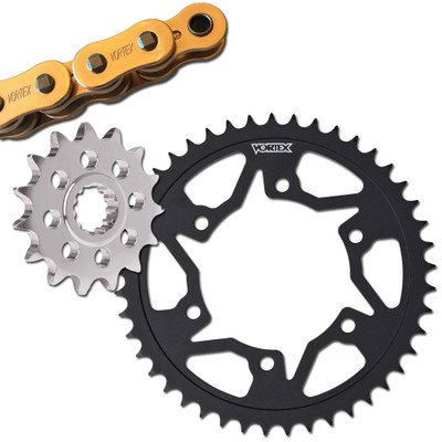 front and rear for 2006-2018 Yamaha R6 Vortex 520 sprocket kit gold chain