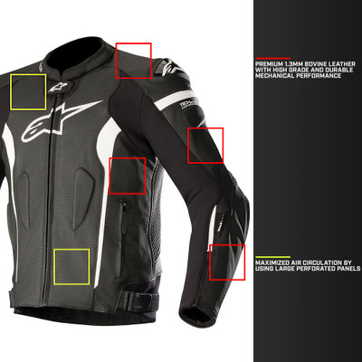 48fc72ab2 Alpinestars Missile Leather Jacket Tech-Air Race Compatible ...
